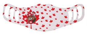 MF2 - Kids Polyester Face Mask - Canada Beaver